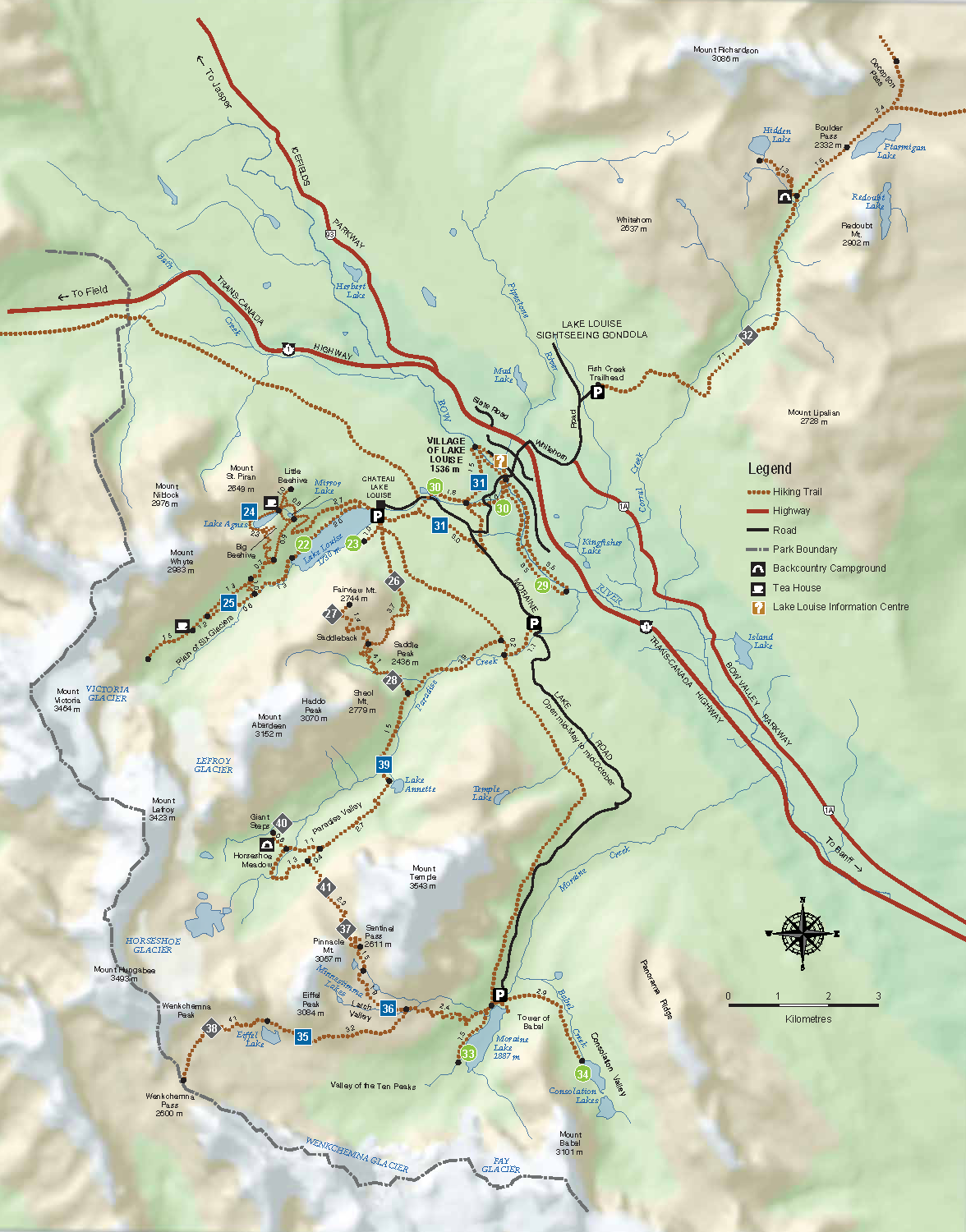 Lake Louise Map Lake Louise Hiking | Trail Guide For Louise Area